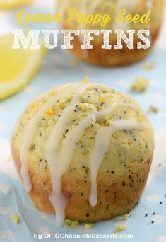 Lemon Poppy Seed Muffins –Simple and easy recipe for bright and sunny breakfast or brunch- moist, lemon infused muffins made with Greek yogurt. Slight crunch from poppy seeds makes really interesting twist on the classic, plain lemon muffins. Easy Blueberry Muffins, Homemade Muffins, Lemon Poppyseed Muffins, Lemon Muffins, Blue Berry Muffins, Chocolate Muffins, Chocolate Desserts, Simple Muffin Recipe, Poppy Seed Muffin Recipe