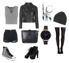 """Biker Girl"" by jess1infinity ❤ liked on Polyvore featuring Topshop, SPANX and Converse"