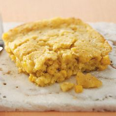 """Makeover Favorite Corn Bake Recipe -""""My family loves this dish—even my picky 5-year-old,"""" says RuthAnn Clore of West Peoria, Illinois. Our Test Kitchen helped her slash the fat in her recipe for a sweet corn bake with fewer calories but all the flavor of the original."""
