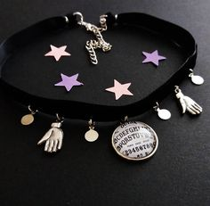 ☾nu goth ouija choker ☾ www.etsy.com/shop/OfStarsAndWine ☾gothic witchy occult fashion
