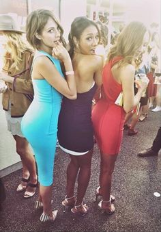 The girls of 'Arrow' and 'The Flash' showing off their collective booties at Comic Con. Willa Holland and Katie Cassidy