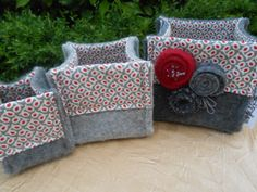 Grey and red nesting bowls.