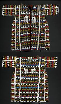 "Yoruba bead work Beaded Tunic (Agbada Ileke) Front  and Back |  42"" x 48"" x 5""  |  19th Century | Purely Inspiration"