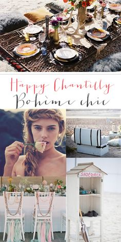 Moonboard décoration: mariage bohème sur la plage   Happy Chantilly