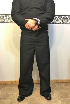 1970's US Navy Wool Bell Bottom Sailor Trousers by RetrosaurusRex