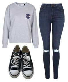 """""""Untitled #40"""" by exc4libur on Polyvore featuring Topshop and Converse"""