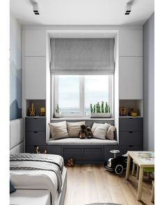 Insanely Bedroom Storage Ideas - To make this happen, you can start by changing the bedroom storage. Here are some bedroom storage ideas for your home Home Bedroom, Girls Bedroom, Bedroom Decor, Master Bedroom, Bedroom Nook, Bedroom Closets, Bedroom Retreat, Bedroom Plants, Playroom Decor