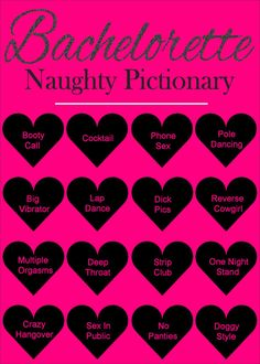 Bachelorette Party Games Dirty Pictionary by SparklingEverAfters