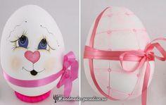 Декоративные пасхальные яйца из пенопласта.В интернет-магазинахтоваров для рукоделия сегодня можно найти недорогие пенопластовые заготовки в форме яиц.