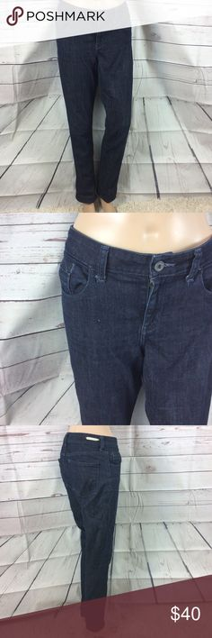 Pilcro and the letter press dark stet cut jeans 30 Pilcro and the letter press Dark wash jeans By Anthropologie Stet cut Five pocket Size 30 Inseam is 29 inches Rise is 9 1/4 inches Hip is from seam to seam 17 1/4 inches Waste is 16 1/2 inches Anthropologie Jeans Straight Leg