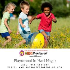 ABC Montessori the fastest growing best Montessori play school in Hari Nagar, Rajouri Garden, West Delhi. Admission started for 2018-19 batch. Playschools are the best way to educate the kid. Contact us Today at 011-4587003.Visit:www.abcmontessoridelhi.com  #kids #playschool #preschool #harinagar #delhi #toddlers #children Pre School, 6 Years, Montessori, Children, Kids, Toddlers, Play, Education, Garden