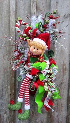 Little Elf Girl Holiday Swag