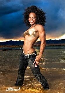 Alicia Harris:  I would love to have arms like hers!