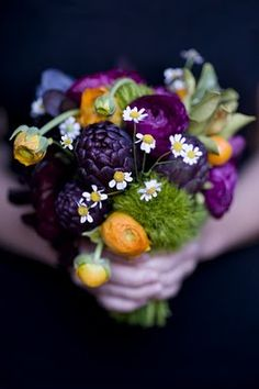 Woodsy #purple #bouquet ... #purple #wedding … Wedding #ideas for brides, grooms, parents & planners https://itunes.apple.com/us/app/the-gold-wedding-planner/id498112599?ls=1=8 … plus how to organise an entire wedding, within ANY budget ♥ The Gold Wedding Planner iPhone #App ♥ For more inspiration http://pinterest.com/groomsandbrides/boards/ #fuchsia #plum #indigo purpl bouquet, purple bouquets