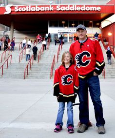 "Ten-year-old Madi Pott has been going to hockey games with her dad ever since she was born. They are proud Calgary Flames fans. ""Even if we didn't live in Calgary, we would still support the Flames.""  #YYCFaces #YYC #Calgary #AB (Photograph by Melanie Walsh)"