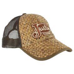 507ddf522ab4a Justin Men s Straw Trucker Cap Hats For Men
