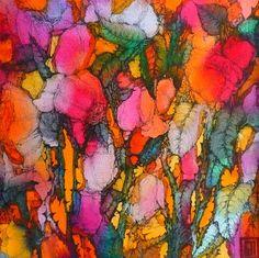 Greek Roses  Bright watercolor/textiles. sofiaperinamiller.com