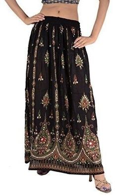 Women Lady Girl A-Line Boohoo Hippie Vintage Spring Summer Indian Skirt OneSize #Handmade #ALine