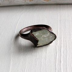 MidWestAlchemy's #Etsy store, Copper ring with mint celadon gem $70.50