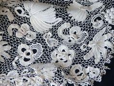 irish crochet close up | Circa 1900, Opulent Irish Crochet Ensemble