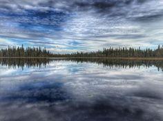 Photo by pekkajh, via pekkajh instagram  Swamp pond at Ylläs, Finnish Lapland.  Suolampi. #suolampi #swamppond #swamp #mire #littlelake #forest #hikingtime #ylläs #lappi #lapland #finland #skyblue #cloudlovers #wilderness #iphone6