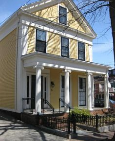 Greek Revival Homes | Here are a few of my favorite Cambridge Greek Revivals.