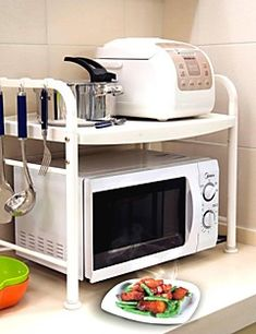 BAOYOUNI Microwave Stand Microwave Oven Stand Kitchen Rack