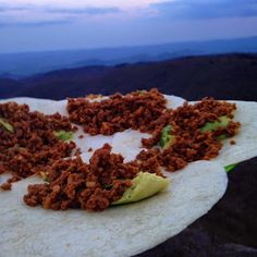 This vegan taco filling makes great backpacking food