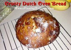 Crusty Dutch Oven Bread http://www.momspantrykitchen.com/crusty-dutch-oven-bread.html