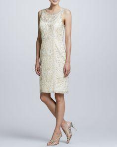 1920s style wedding dress - Sue Wong Open-Back Beaded Cocktail Dress 10 $129.85 AT vintagedancer.com