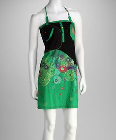 Take a look at this Green Rasta Dress by Coline USA on #zulily today!