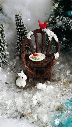 Fairy Garden Christmas Chair Winter by MagikalFairyland on Etsy