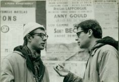 Peter Orlovsky and Allen Ginsberg on the rue St.-Andre-des-Arts. December 1975. c. Harold Chapman.