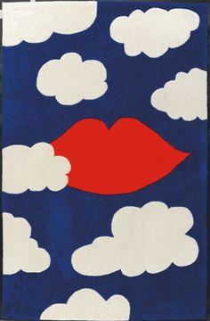 Tapis bleu, blanc et rouge design JC de Castelbajac 110x170 - Toulemonde Bochart
