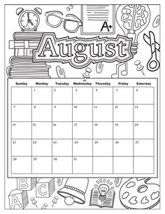 Exclusive Image of February Coloring Pages February Coloring Pages Calendar With Blank Pictures To Color For Adults Impressive Kalender August, August Calendar, Kids Calendar, School Calendar, Calendar Pages, Calendar Ideas, Calendar Doodles, Creative Calendar, Free Calendar