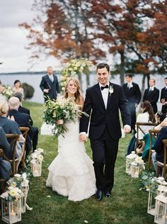 Traditional Wisconsin Wedding in warm fall tones via Magnolia Rouge