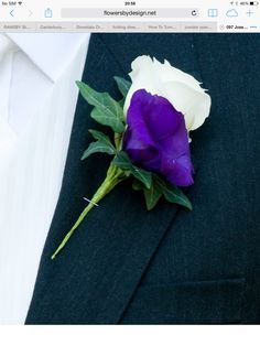 Lisianthus bloom a great alternative to a rose holds up well double lisianthus buttonhole one purple one white altavistaventures Choice Image