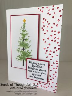 seeds of thoughtfulness with lorin goodchild stampin up christmas 2017 season like - Christmas Photo Cards 2017
