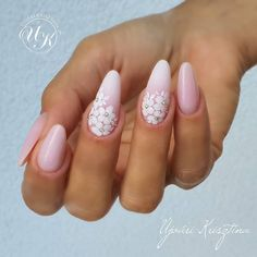 Bridal Nails Designs, Manicure Nail Designs, Bridal Nail Art, Nail Manicure, Cute Gel Nails, Soft Nails, Pretty Nails, Beauty Hacks Nails, Color For Nails