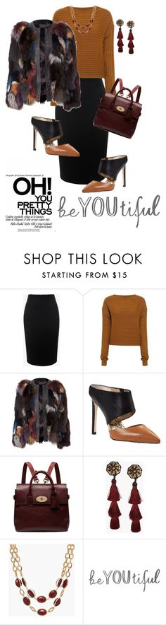 """""""Untitled #660"""" by belinda54-1 ❤ liked on Polyvore featuring Alexander McQueen, TIBI, Sam Edelman, Mulberry and Talbots"""