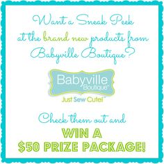 viva veltoro: Get a Sneak Peek at Babyville Boutique's New Products and WIN them before you can buy them!
