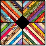 Michigan quilt block pattern - like the black center - scrappy strips