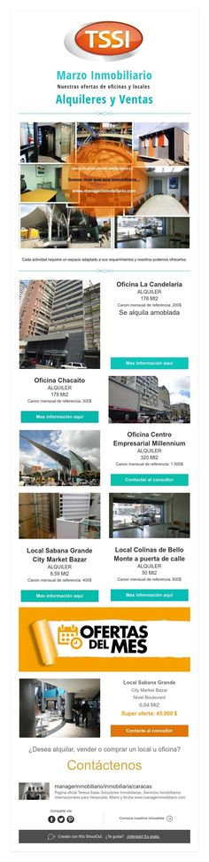 Marzo Inmobiliario  Nuestras ofertas de oficinas y locales  Alquileres y Ventas