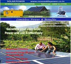 #Renewablepowersystemsdelhi Generate you own SolarPower & Use it Effectively