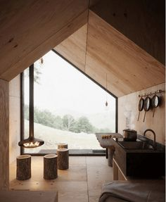 Modern architecture house design with minimalist style and luxury exterior and interior and using the perfect lighting style is inspiration for villas mansions penthouses Cabin Design, Tiny House Design, Interior Architecture, Interior Design, Modern Interior, Amazing Architecture, Contemporary Architecture, Cabin Interiors, Tiny House Cabin