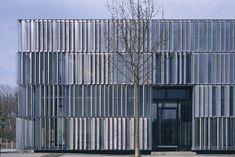 Metal shutter facade