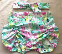 Sewvolution : Pattern Hack - Ruched Bloomies with a flat front. Maybe use for swim bottoms!