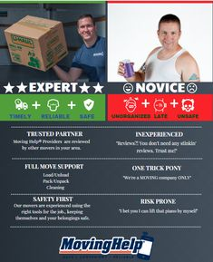What's the difference between expert and novice movers? Moving Supplies, Packing Supplies, U Haul Truck, Small Colleges, Planning A Move, Stress, Make It Yourself, How To Plan, Psychological Stress