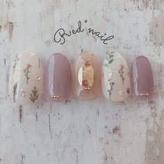 Installation of acrylic or gel nails - My Nails Simple Wedding Nails, Wedding Nails Design, Korean Nail Art, Korean Nails, Cute Nails, Pretty Nails, Kawaii Nails, Japanese Nail Art, Flower Nails