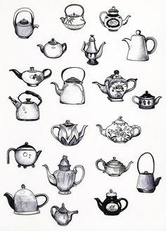 Teapots Drawing